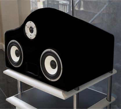 Wizard Shown in Hansen Audio Luxury Leather - black